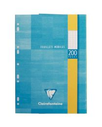 Clairefontaine - 1751 - Feuille mobile grand carreaux blanc A4 - Etui de 100