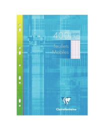 Clairefontaine - 17910 - Feuille mobile grand carreaux blanc A4 - Etui de 200