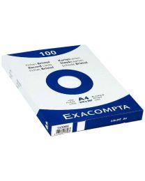 Exacompta - 13306E - Fiche bristol non perforée uni blanc 210x297mm - Paquet de 100
