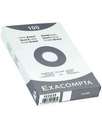 Exacompta - 13203E - Fiche bristol non perforée petit carreaux blanc 125x200mm - Paquet de 100