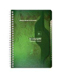 Clairefontaine - 749 - Répertoire spirale petit carreaux - 9x14 cm - 100 Pages