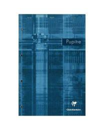 Clairefontaine - 66131 - Bloc pupitre grand carreaux perforée 4 trous - 160 pages 210 x 315 mm