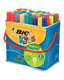 BIC - 249271 - Feutre Visacolor XL ecolution assorti - Maxi pot de 48