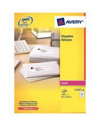 Avery - L7163-100 - Etiquettes laser 99,1x38,1mm - Paquet de 1400