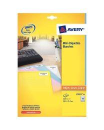 Avery - L7651-100 - Etiquettes mini adresse 38x21mm - Paquet de 6500