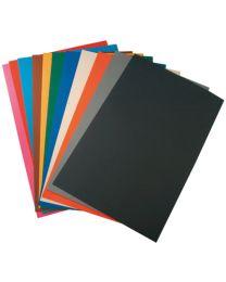 MAILDOR - 457099 MAJUSC - Papier dessin cartoline bicolore 50x35 150g - Paquet de 60