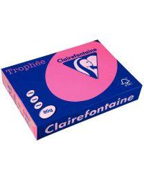 Clairefontaine - 4326 - Ramette papier A3 80g - Rose fluo - 100 Feuilles