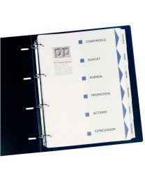 Avery - 01638061 - Intercalaires personalisables index maker A4 - jeu de 6