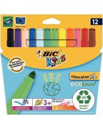 BIC - 893210 - Feutre Visacolor XL - Lot de 12 pochettes de 12