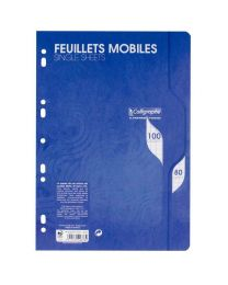Clairefontaine - 2376 - Feuille mobile grand carreaux blanc - A4 - Sachet de 50