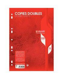 Clairefontaine - 5615 - Copie double grand carreaux blanc perforée A4 - Sachet de 50