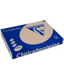 Clairefontaine - 1209 - Ramette papier A4 120g - Saumon - 250 Feuilles