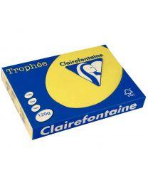 Clairefontaine - 1292 - Ramette papier A4 120g - Jaune soleil - 250 Feuilles