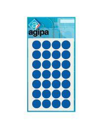 Agipa - 111842 - Pastille adhésif diamètre 15 mm - Bleu - Sachet de 168