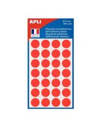 Agipa - 111843 - Pastille adhésif diamètre 15 mm - Rouge - Sachet de 168