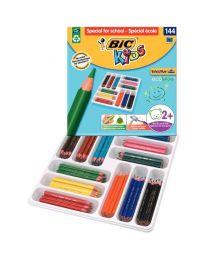 Bic kids - 857261 - Crayon de couleur évolution triangulaire - Class pack de 144