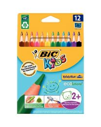 Bic kids - 001632 - Crayon de couleur évolution triangulaire - Etui de 12