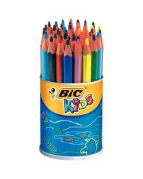Bic kids - 400170 - Crayon de couleur évolution triangulaire - Pot de 48