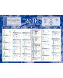 Calendrier semestriel ptt 21x26,5