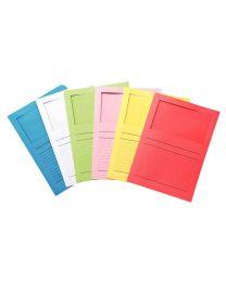 Exacompta - 50100E - Pochette coin en papier avec fenêtre Elco - Assortie - Paquet de 100