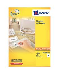 Avery - L4736REV-25 - Etiquette enlevable 45,7x21,2mm - Paquet de 1200