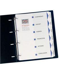 Avery - 01998061 - Jeu de 6 Intercalaires personalisables index maker A4+