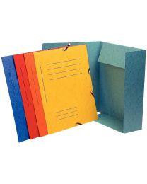 Exacompta - 55360E - Chemise 3 rabats à elastique pré-imprimée 355g assorti - Format 24x32cm - Paquet de 10