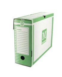 MAJUSCULE - 387673 - Boite archive 34x 25 dos 10cm vert - Paquet de 25