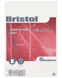Fiche bristol uni blanche 148x210 - Non perforées - Paquet de 100