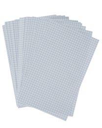 Fiche bristol blanche petit carreaux 125x200 - Paquet de 100
