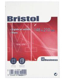 Fiche bristol blanche petit carreaux 148x210- paquet de 100