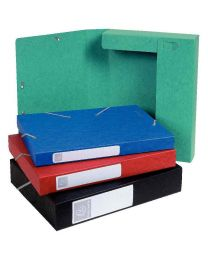 Exacompta - 140.ROUGE - Boîte de classement cartobox rouge - Dos 40mm - Format 24x32cm