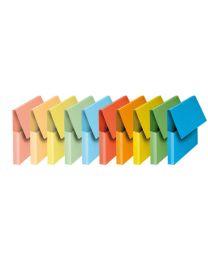 Pochettes vip à rabat Fast pour documents 21 x 29,7 cm. Coloris pastel assortis - Lot de 10