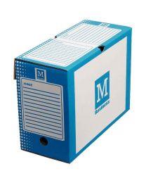 MAJUSCULE - 370368 - Boite a archive 34x25 dos 15cm bleu - Paquet de 25