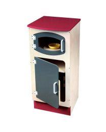 Colonne frigo pour micro ondes en bois