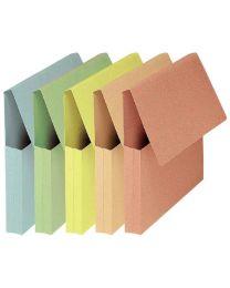 Pochette à soufflet vip Fast pastel à rabat pour document - Lot de 50