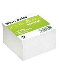 M GREEN - 74655 / 75789 - Bloc cube recyclé blanc 9x9x9 cm