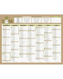Bouchut grandremy - 004502 - Calendrier semestriel 7 mois Natura mini 21x26.5 cm