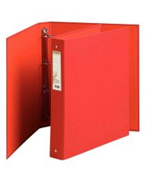 Exacompta - 51985E - Classeur 4 anneaux forever en carte recyclée A4 - Dos 4cm - Rouge