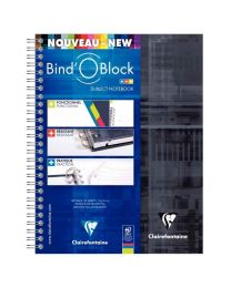 Clairefontaine - 8212C - Cahier spirale Bind'o block A4+ petit carreaux - 160 Pages