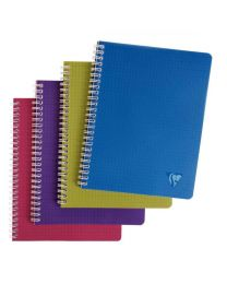 Clairefontaine - 329755 - Cahier spirale Evolutiv'book A5+ petit carreaux  + 3 intercalaires