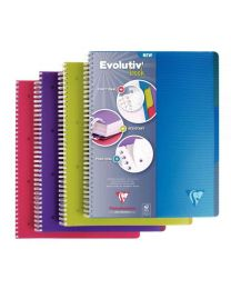 Clairefontaine - 329155 - Cahier spirale Evolutiv'book A4+ petit carreaux + 3 intercalaires