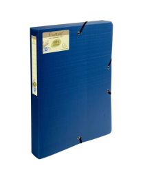 Exacompta - 553572E - Boite de classement polypropylène 24x32cm - Dos 4cm - Blue