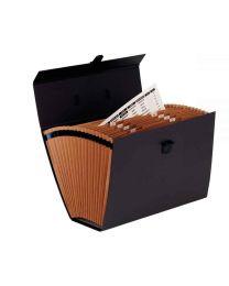 Fellowes - 93521 - Trieur accordéon 19 compartiments - Noir