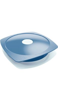 Assiette 900ml micro onde PICNIK plastique bleu