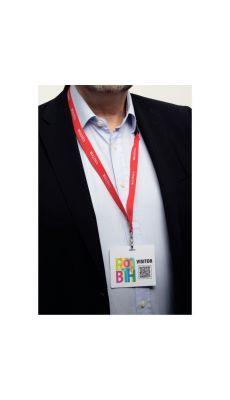 Boîte de 100 badges visiteurs imprimables