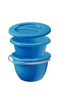 Seau 14 litres + bassine 9 litres + couvercle