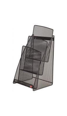 Porte brochure métal mesh noir A5