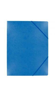 Coutal - C3116 B - Chemise carte lustrée sans rabat avec élastique - Bleu - 24x32 cm