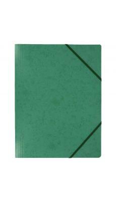 Coutal - C3116 V - Chemise carte lustrée sans rabat avec élastique - Vert - 24x32 cm